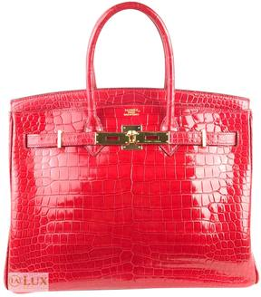 Hermes Birkin crocodile satchel - RED - STYLE