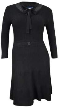 Tommy Hilfiger Women's Layered Ribbed Sweater Dress