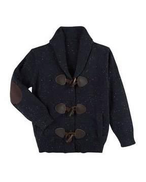 Andy & Evan Slub-Knit Toggle Cardigan, Size 2-7