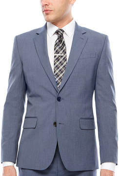 Jf J.Ferrar JF Texture Stretch Light Blue Jacket- Super Slim Fit