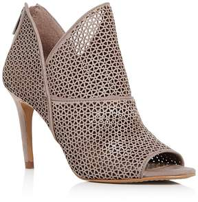 Vince Camuto Women's Vatena Perforated Nubuck Leather High Heel Booties