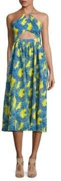 Peserico Julianna Cotton Cutout Midi Dress