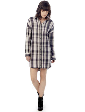 Alternative Apparel Timberwood Yarn Dye Flannel Shirt Dress