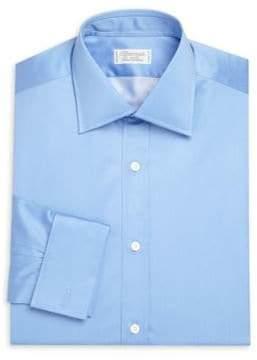 Charvet Regular-Fit Solid Cotton Dress Shirt