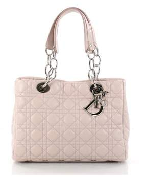 Christian Dior Pre-owned: Soft Shopping Tote Cannage Quilt Lambskin Small.