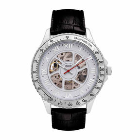 Croton Imperial Mens Black Strap Watch-Ci331094ssdw