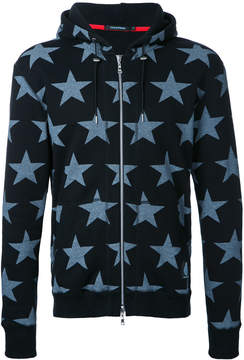 GUILD PRIME stars print hooded jacket