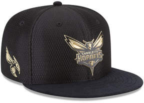 New Era Charlotte Hornets On-Court Black Gold Collection 9FIFTY Snapback Cap
