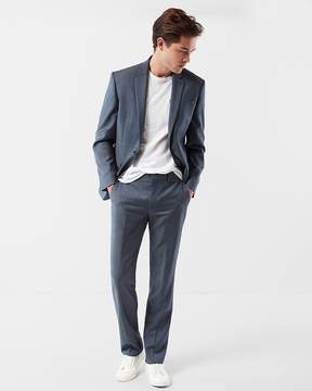 Express Classic Blue Wool Twill Suit Pant