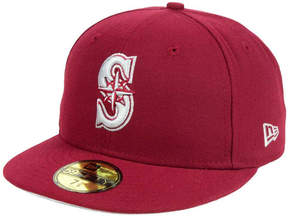 New Era Seattle Mariners Cardinal Gray 59FIFTY Cap