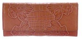 Emanuel Ungaro Embossed Leather Wallet