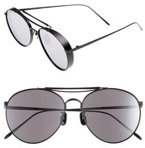 Gentle Monster Women's Big Bully 56Mm Aviator Sunglasses - Black Mirror