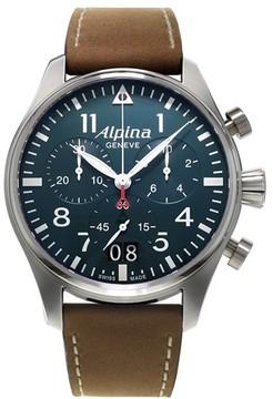 Alpina Startimer Pilot Big Date (Blue Dial) 44 mm Mens Watch
