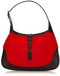 Gucci Pre-owned: Wool Jackie. - RED X BLACK - STYLE