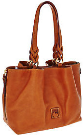 Dooney & Bourke As Is Florentine Leather Large Zip Satchel