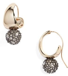 Alexis Bittar Women's Pave Crystal Hoop Earrings