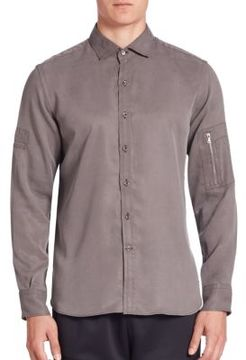 Ovadia & Sons Military Detail Shirt