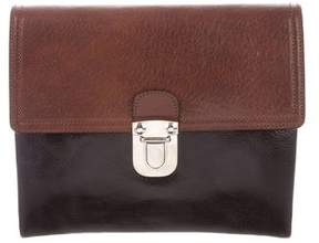 Marni Bicolor Leather Clutch