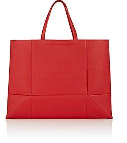 Calvin Klein Women's Amazon East West Leather Tote Bag - Red