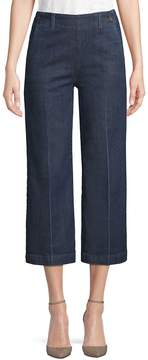 AG Adriano Goldschmied Women's Led Wide-Leg Cropped Jeans - Lighthouse Blue, Size 26 (2-4)