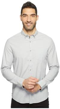 Kenneth Cole Sportswear Long Sleeve Stretch End on End Shirt Men's Clothing