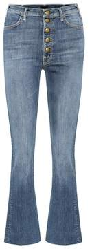 Mother Hustler Snap Down cropped jeans