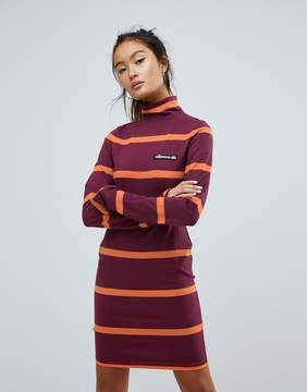 Ellesse Jersey Mini Dress With Roll Neck