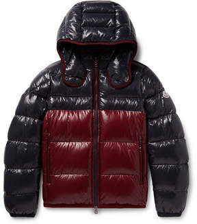 Moncler Harry Colour-Block Quilted Shell Hooded Down Jacket
