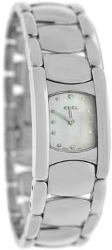 Ebel Beluga 9057A21 Stainless Steel Diamond Mother Of Pearl Quartz Womens Watch