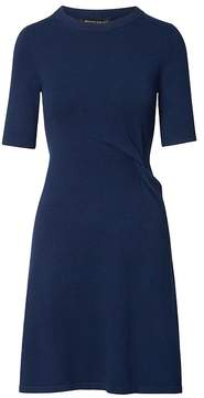 Banana Republic Knotted Fit-and-Flare Sweater Dress