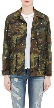 Amiri Women's Embellished Camouflage Cotton Field Jacket