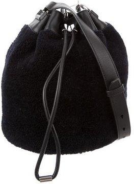Alexander Wang Shearling Alpha Bucket Bag