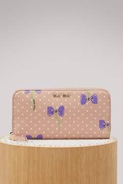 Miu Miu Bows zip arround wallet