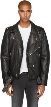 BLK DNM Black Leather Classic 5 Biker Jacket
