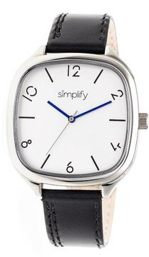 Simplify The 3500 Collection SIM3501 Square-Shaped Silver Analog Watch