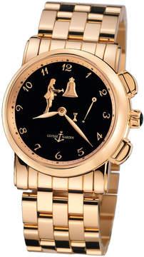 Ulysse Nardin Hour Striker Black Dial 18kt Rose Gold Men's Watch 6106-103-8-E2