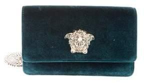 Versace Medusa-Embellished Velvet Bag