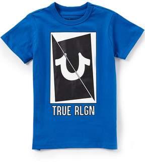 True Religion Little Boys 2T-7 Short Sleeve Long Sliced Horseshoe Tee