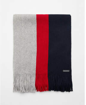 Express striped cotton scarf