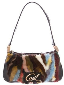 Christian Lacroix Mink Shoulder Bag