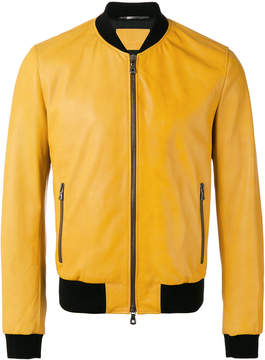 Dolce & Gabbana leather bomber jacket