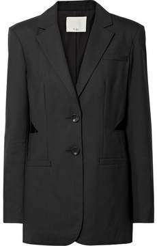 Tibi Oversized Cutout Wool Blazer - Black