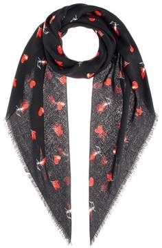 Saint Laurent Printed wool scarf
