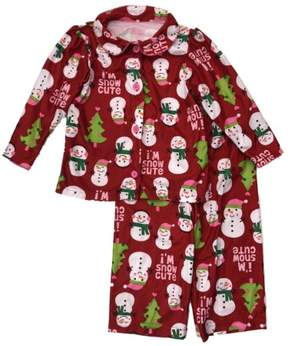 Carter's Infant & Toddler Girls Holiday Sleepwear Set Flannel Snowman Pajamas 24m