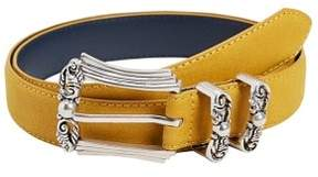 MANGO Embossed buckle belt