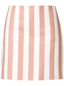 Drome fitted striped skirt