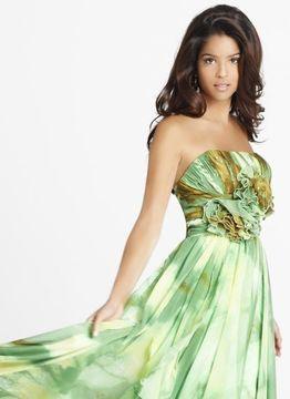Blush Lingerie Floral Printed Strapless Long Dress 9226