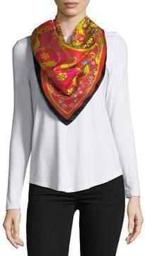 Saks Fifth Avenue Women's Medallion-Print Silk Foulard