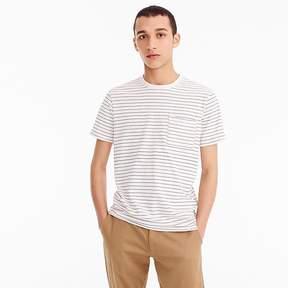 J.Crew Slub cotton garment-dyed T-shirt in pink stripe