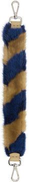Fendi Blue and Brown Fur Mini Strap You Bag Strap